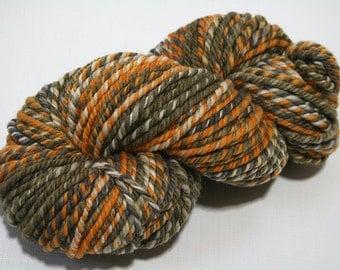 Hand Dyed Artisan Handspun Yarn, Handmade Yarn, Merino Wool Yarn - Mod Lounge colorway