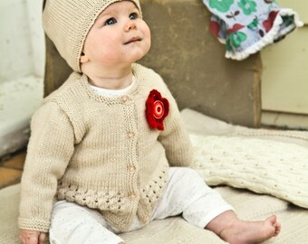 Indiana Cardi and Hat - Baby Cakes by lisaFdesign - Download Now - Pattern PDF