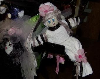 Cajun Fairy. Original Sha Bebe Cloth Doll Made by Cajun Doll Artist, Mary Lynn Plaisance in  Louisiana. Art doll collectibles.