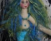 Whimsical Fiber Sculpted Fantasy Mermaid Art Doll