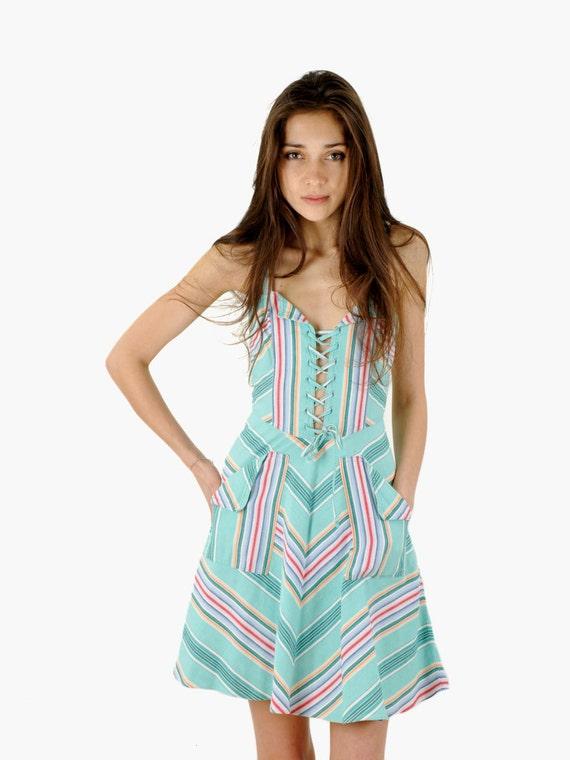 Chevron Corset Summer Dress