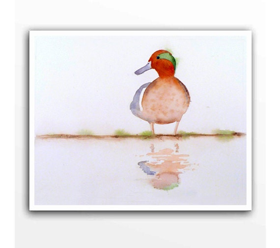 Wild Duck Painting - Print of My Watercolor Painting - Bird art, Wildlife Art, Home Decor Woodlands - 8x10