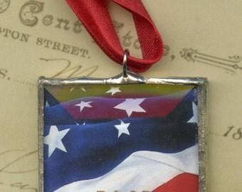 Ornament - Cherokee Language Series -  Amayetli = America