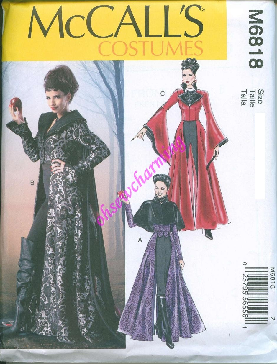Once Upon a Time Costume Pattern McCalls 6818 Wicked Witch
