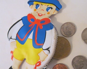 Swiss Boy - vintage 1960s Vinyl Doll-shaped Change Purse