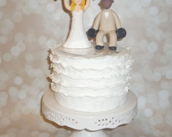 Personalised cartoon caricature wedding cake topper made to order