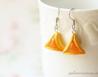 Jewish Earrings - Hamantaschen