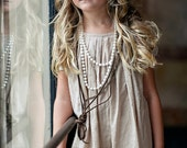 Girls Wheat PEYTON Cotton swiss dot Pleated Dress - Lilla Grey F/W '13 Pompeii Dreams Collection