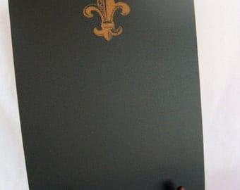 Fleur de lis Chalkboard with Easel - Item E1486