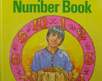 50% off clearance sale! My Bible Number Book, vintage 'A Happy Day Book' for children