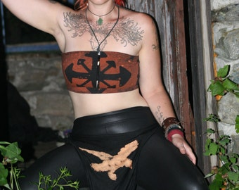 Stained Chaos Symbol Apocalyptic Bandeau Tube Top