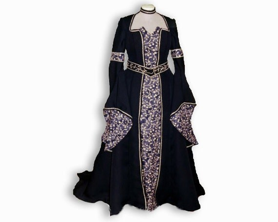 Elorin: fantasy medieval dress, wedding dress or handfasting dress, Game of Thrones style. Made to order fairytale princess dress
