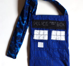 Doctor Who TARDIS Police Box Outer Space Sparkle Purse