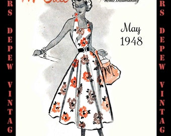 Vintage Sewing Pattern Catalog Booklet McCall Style News May 1948 PDF -INSTANT DOWNLOAD-
