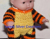 Crochet Pattern - 5.5 inch Berenguer/Lots to love/Itsy Bitsy Baby Tiger