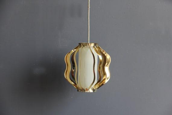 Unique Retractable Brass Pendant Light. Works Great
