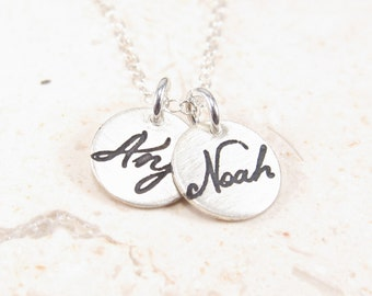 Two Name Necklace -  Personalized Jewelry  - Silver Necklace -  Mother Necklace