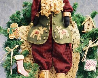 Cloth Doll E-Pattern - Folk Art Christmas Santa