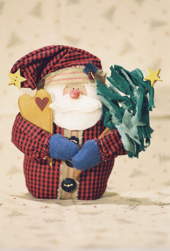 Cloth Doll E-Pattern - Small Christmas Santa Doll Epattern