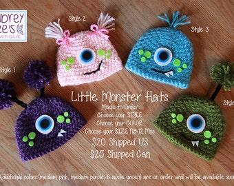 Crochet Monster Hat Photography Prop