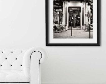 """SALE! Paris Print, """"Creperie"""" Extra Large Wall Art, Paris Photography Art Print, Oversized Art, Fine Art Photography Paris Decor"""