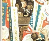 Norman Rockwell - A Time For Greatness - Kennedy - Vintage Art Print - Rockwell Book Plate, Book Print - Saturday Evening Post Cover - 1962