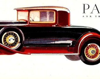 1930 Packard Ad - Packard Auto 1930 Standard Eight - Vintage Magazine Ad - Auto Advertisement - Vintage Car Ad