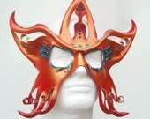 Halloween Masquerade leather mask  - Circus Star - made to order