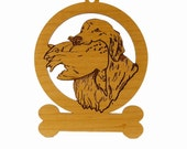 Golden Retriever Holding Frisbee Ornament 083244 Personalized With Your Dog's Name