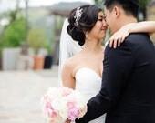 Crystal Hair Comb, Bridal Hair Accessory with Swarovski Crystals and Rhinestone, Wedding Headpiece
