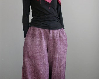 Hand woven cotton pants (136) one size