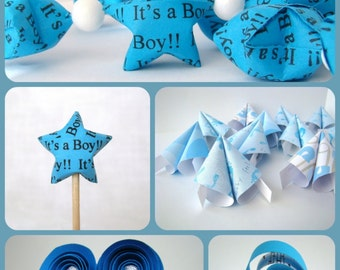 Baby Shower Party Set - Blue - It's a Boy!