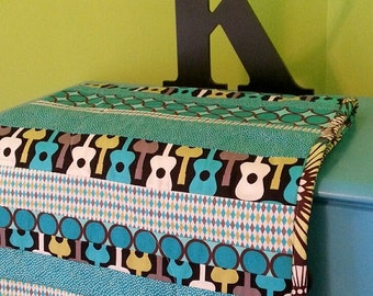 Custom CRIB QUILT - 44 x 34 inches - 4 Designs, Patchwork, Strip Style, Picture Frame and Simple Style