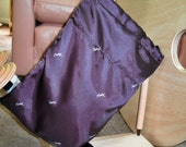 Satin fiber bag, YSL designer fabric, spinning accessory for spinning wheel or drop spindle spinners, bag for roving