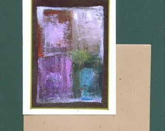 Abstract Number 2 Art Note Card Invitation Stationery