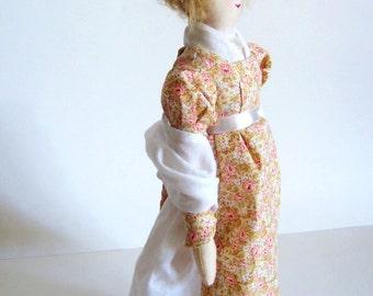 Custom Jane Austen Art Doll