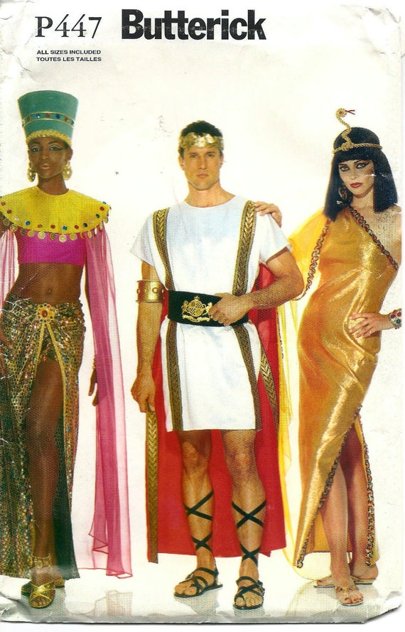 Butterick Pattern P447 Julius Caesar and Cleopatra Egyptian