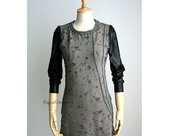 Tunic dress / Mini dress / tattered dress / Cotton tunic - KD187