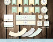 """SALE! - Shower DECOR Package Bride to """"Bee"""" Bridal Shower Stylish Decoration Party Printable DIY Digital File Instant Download"""