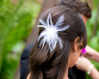 Feather Fascinator with Swarovski Crystals- QUINCY no.28