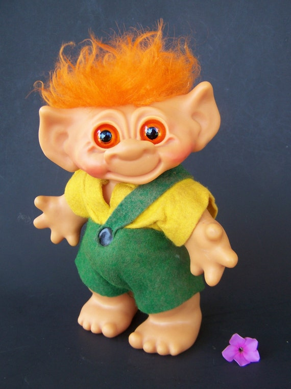 Vintage Toy Dam Troll Bank Doll 1960 S Marked 6