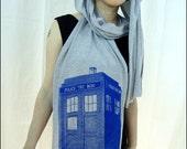 TARDIS Jersey Cotton Scarf