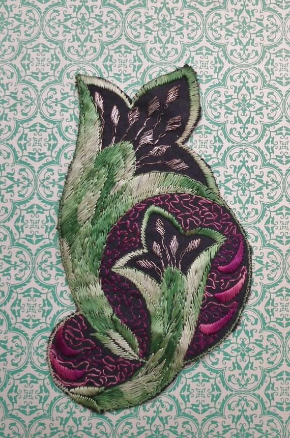 vintage applique 1920s 1930s art deco floral motifs sew on. Black Bedroom Furniture Sets. Home Design Ideas