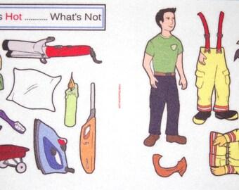 Fire Safety-  Felt /  Flannel Board Set- includes fireman to dress
