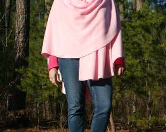 Perfectly Pink Antipill Fleece Shawl