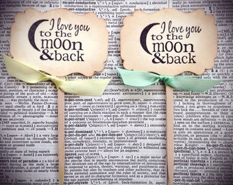 Baby Shower cupcake toppers, Wedding cupcake toppers, Love you to the moon and back
