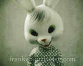 Creepy Rabbit Doll Polaroid Print, Bunnyman, Easter Photo