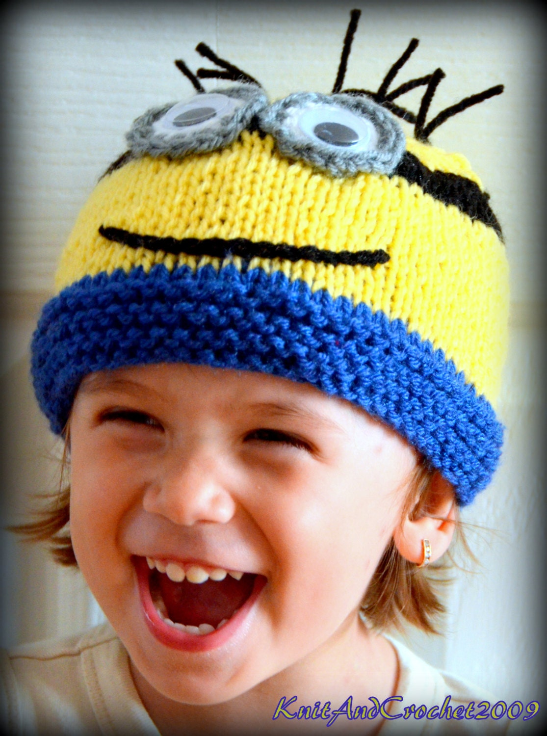 Baby minion hat newborn minion beanie knitted minion cap zoom bankloansurffo Image collections