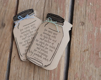 Custom Mason Jar Thank You Note Card - From the Future - Mr. / Mrs. - Wedding -  Baby or Bridal Shower  - Graduation - Emerson Quote - Blank