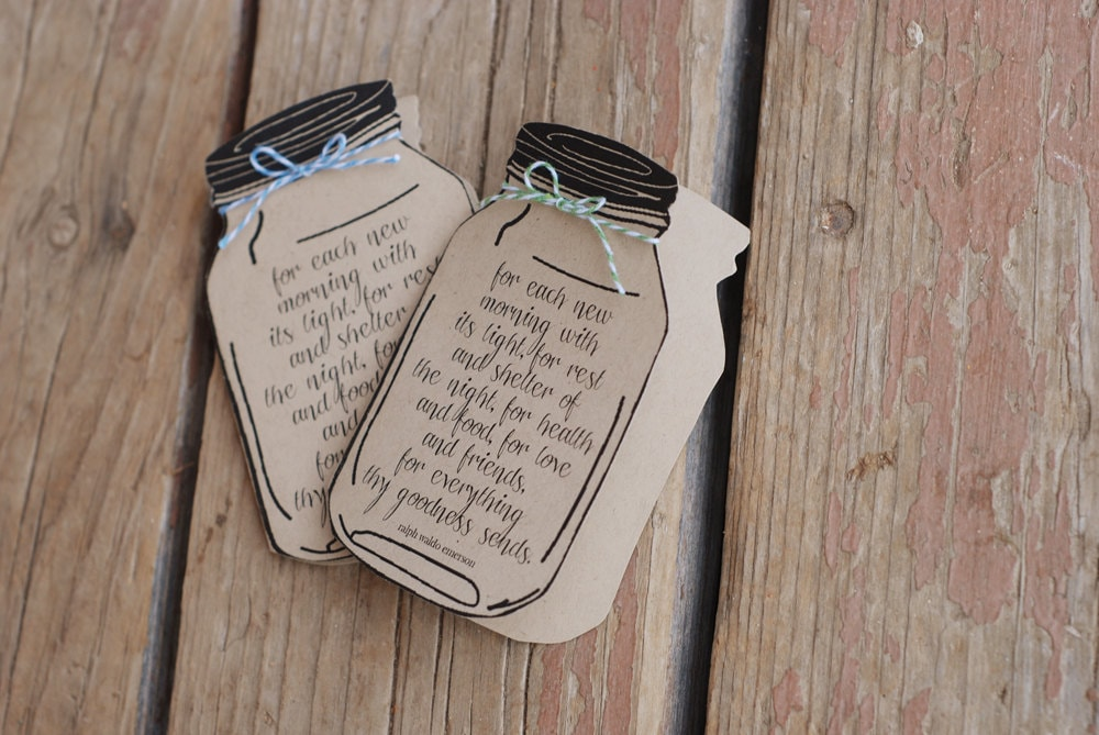 Custom Mason Jar Thank You Note Card From the Future Mr – Thank You Quotes for Wedding Cards